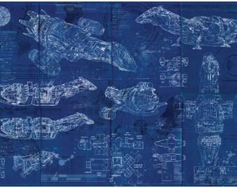 FireFly / Serenity Blueprint Art Print