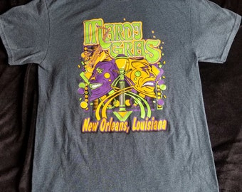 Authentic Mardi Gras T Shirt,New Orleans Shirt,Mardi Gras Apparel,