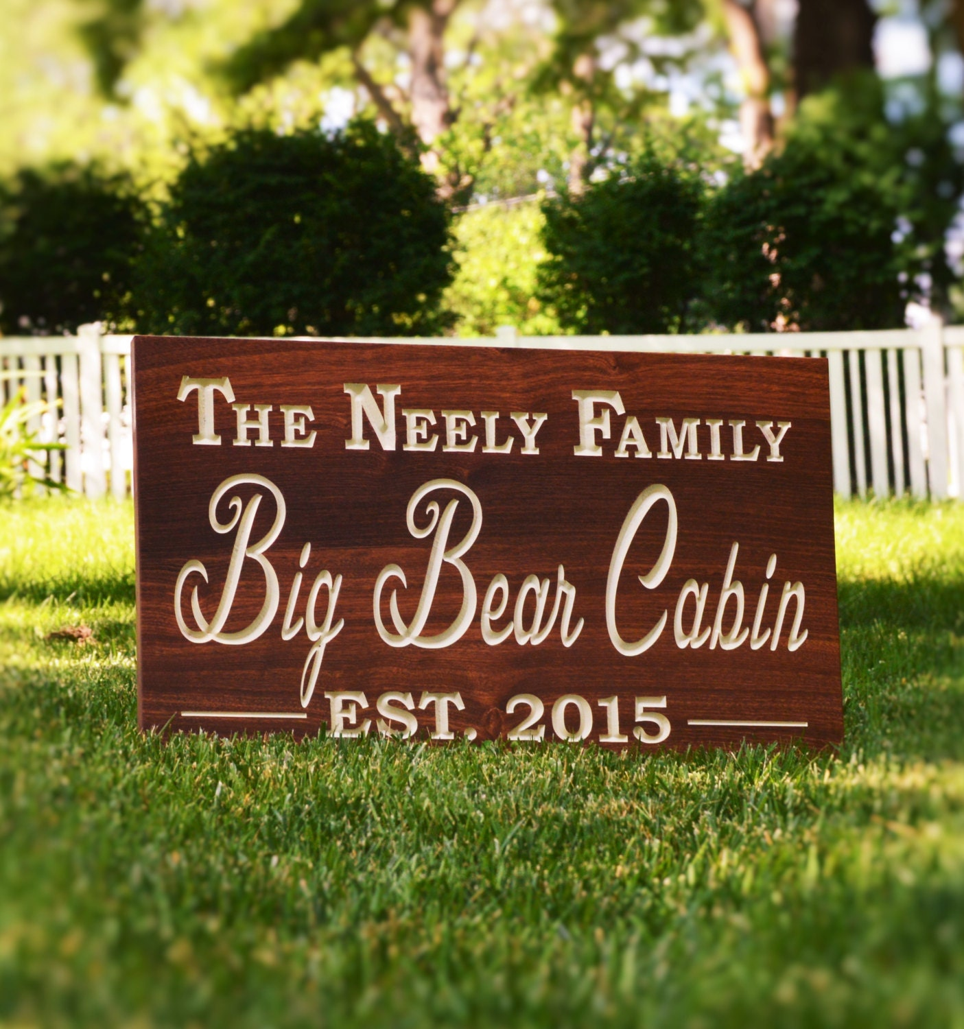 Custom outdoor name sign outdoor wood sign outdoor decor for Outdoor decorative signs