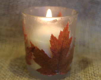 Autumn Leaf Votive Candle Holder