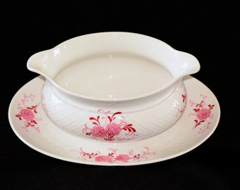 Gravy Boat - Seltmann Weiden Bavaria West Germany, Vintage Pink Floral Annabell China Pattern from the 1950's