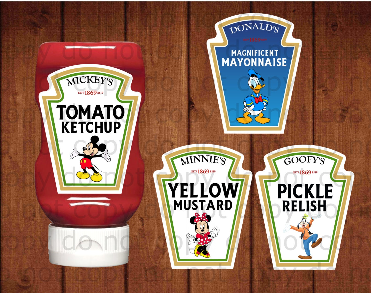 heinz label template - mickey mouse condiment labels mickey 39 s tomato by