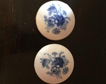 Vintage Porcelain Trinket Dishes, Made in France