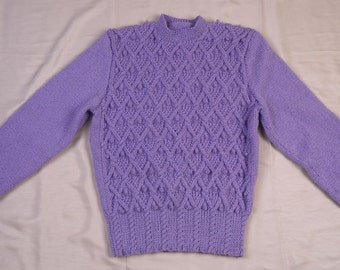 Ladies 1940s Style Handknitted Cable Sweater
