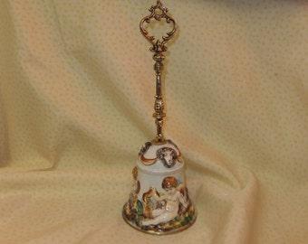 Vintage Capodimonte Keramos Bell