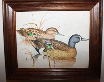 Vintage Framed Gregory F. Messier Signed Mallard Painting