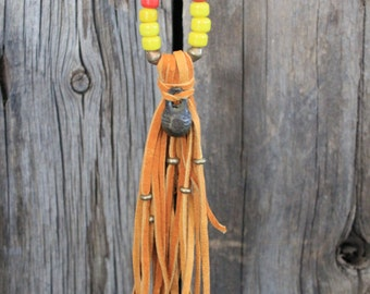 Leather Tassel Rendezvous Necklace