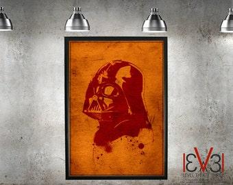 Star Wars  - Blood Darth Vader - Print/Poster- Star Wars Print - A0,A1, A2, A3