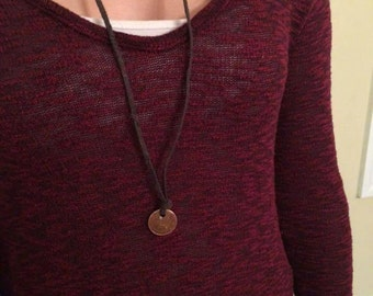 Single small coin necklace