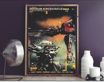 "Star Wars Poster -Empire Strikes Back- Episode V! Limited Edition 2015 Lakomski artwork ! Size: 18 3/4"" x 26 1/2"" [48 x 67 cm] + Certificate"