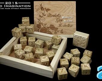 Engraved Baby Blocks, Custom Baby Blocks, Newborn Gift, Wooden Baby Block, Personalized Baby Blocks,