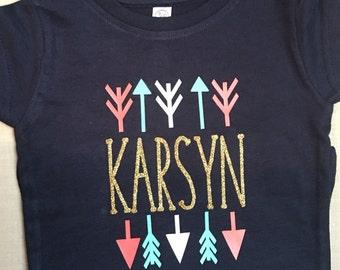 School Clothes-Monogram Shirt-Girl Birthday Gift-Toddler Girl Shirt-Girls Name Shirt-Birthday Shirt-Girls Monogrammed Shirt-Back to School