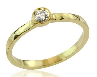 Solitaire Diamond Engagement Ring, Classic Solitaire Engagement Ring, Diamond Ring, 18K Gold Ring, Solitaire Ring, Diamond Wedding Ring