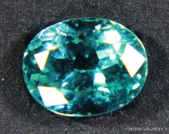 Teal Apatite, faceted, Madagascar.  0.96 carat.