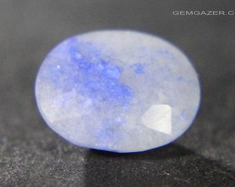 Quantum Quattro Gem Silica with Chrysocolla, faceted, Africa. 2.65 carats.