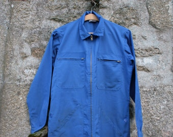 French blue vintage work overalls/coveralls