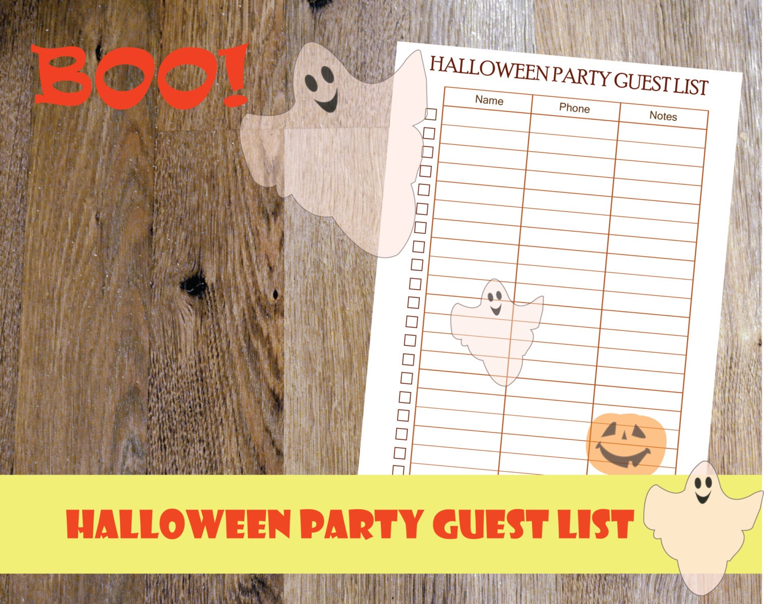 2017 Halloween planner printable Halloween party printable