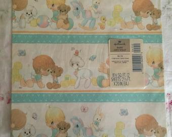 Vintage Hallmark Baby Gift Wrap