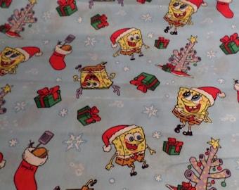 Christmas Fabric / Sponge Bob Christmas Fabric/ Cotton/By the yard