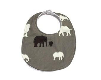 Elephant Bib; Organic Baby Bib; Baby Bib; Elephant Baby Bib