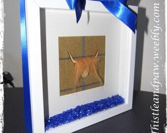 Scottish highland cow tweed box frame