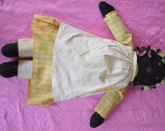 Vintage, Fairfield Folk Art, Black Doll.