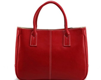 Versatile Leather Handbags monogramming available