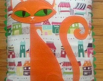 Orange Cat Pillow