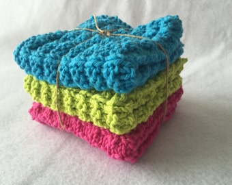 Knit Cotton Dishcloths