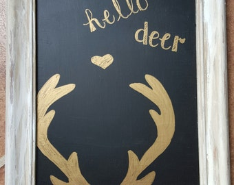 Hello Deer Framed Art