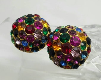 Colorful Glitter Ball Earrings