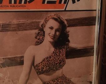 Original Bond Girl Framed Magazine Cover 1946
