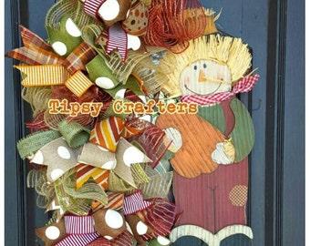 Scarecrow Wreath - Grapevine wreath - Fall wreath