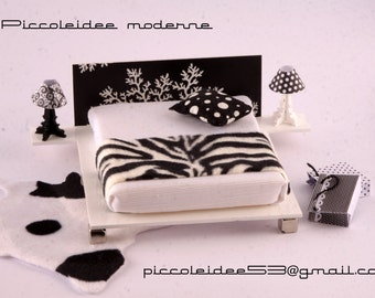 1/12 scale type Tatami bed with headboard in choice of 4 models
