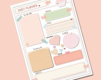 daily planner PDF printable A4 planificador para organizar citas imprimible