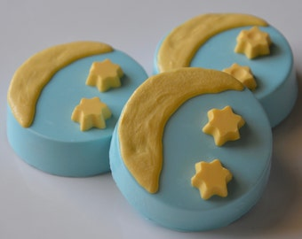 Twinkle Twinkle Little Star Baby Shower Chocolates Oreos (6), Nursery Rhyme Baby shower favors,Shooting Star Chocolate Favors, Twinkle