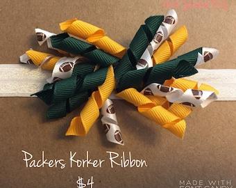 Green Bay Packers Korker Ribbon Hair Bow