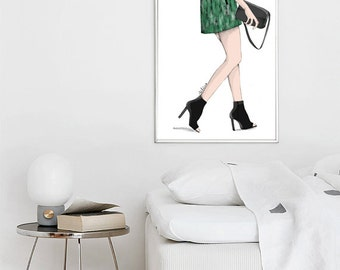 Poster shoe, touch of green