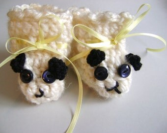 BabyBooties crocheted as puppies