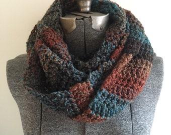 Crochet Infinity Scarf - Woodland / Gift for mom, sister, grandma, friend