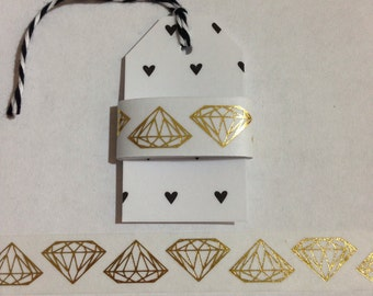 "30"" Gold Foil Diamond Washi Tape Sample"