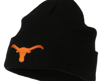 Texas Longhorn Steers Embroidered Beanie