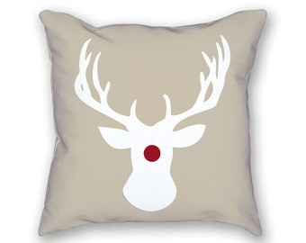 Christmas Pillow – Reindeer Pillow, Holiday Pillow