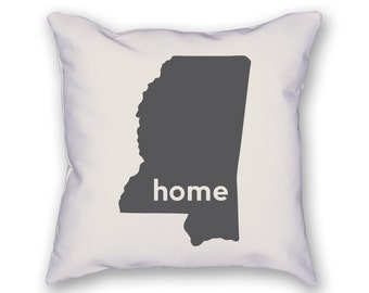 Mississippi Home Pillow