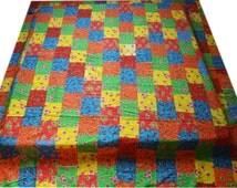 Kantha patchwork bedcover - quilt - bedspread - blanket