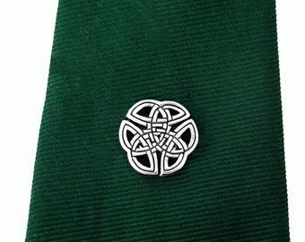 Men's Celtic Knot Tie Tack, Hat pin, Lapel Pin, Mens Accessories, Mens Gifts, Groomsmen Gifts, Celtic Tie Tack, Irish Tie Tack, Wedding Gift