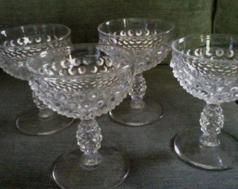 Hobnail Champagne Glass