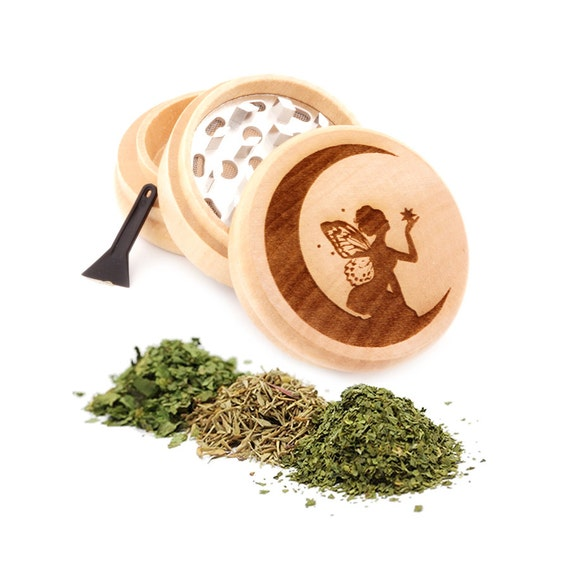 Fairy Engraved Premium Natural Wooden Grinder Item # PW91316-4