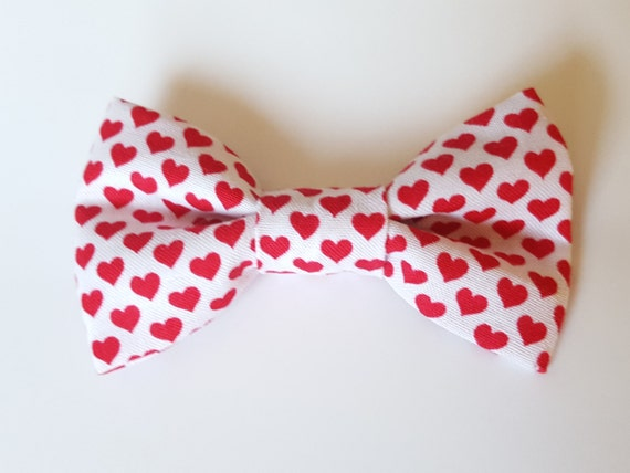 Heart Bow For Cat or Small Dog Collars, Matching Velcro Collar, 100% Sales Goes to Feeding Feral Cats