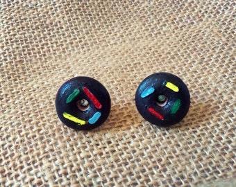 Donut earrings